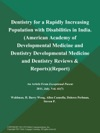 Dentistry For A Rapidly Increasing Population With Disabilities In India American Academy Of Developmental Medicine And Dentistry Developmental Medicine And Dentistry Reviews  Reports Report