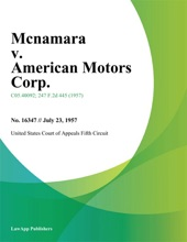 Mcnamara V. American Motors Corp.