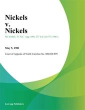 Nickels V. Nickels