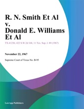 R. N. Smith Et Al v. Donald E. Williams Et Al