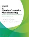 Cavin V Honda Of America Manufacturing