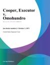Cooper Executor V Omohundro