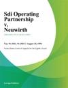 Sdi Operating Partnership V Neuwirth