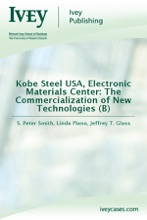 Kobe Steel USA, Electronic Materials Center: The Commercialization Of New Technologies (B)