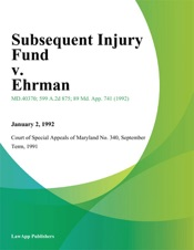 Download Subsequent Injury Fund v. Ehrman