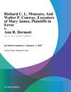 Richard C L Moncure And Walter P Conway Executors Of Mary James Plaintiffs In Error V Ann R Dermott
