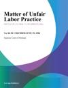 Matter Of Unfair Labor Practice