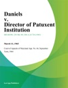 Daniels V Director Of Patuxent Institution