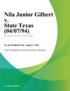 Nila Junior Gilbert V State Texas 040794