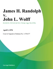Download and Read Online James H. Randolph v. John L. Wolff