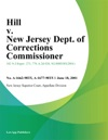 Hill V New Jersey Dept Of Corrections Commissioner
