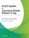 UT Speller V American Honda Finance Corp
