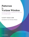 Patterson V Verizon Wireless