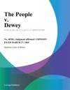 The People V Dewey