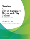 Gardner V City Of Baltimore Mayor And City Council