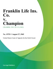 Download and Read Online Franklin Life Ins. Co. v. Champion