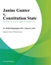 030494 Janine Gunter V Constitution State