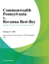 Commonwealth Pennsylvania V Rovanna Best-Bey