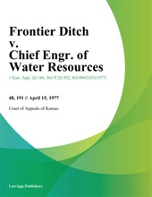 Frontier Ditch V. Chief Engr. Of Water Resources