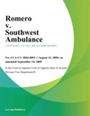 Romero V Southwest Ambulance