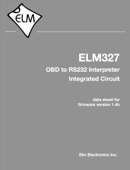 ELM327 OBD to RS232 Interpreter Integrated Circuit