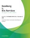 Izenberg V Ets Services