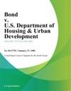 Bond V US Department Of Housing  Urban Development