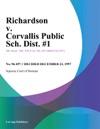 Richardson V Corvallis Public Sch Dist 1
