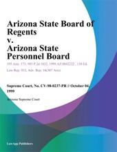 Arizona State Board of Regents v. Arizona State Personnel Board
