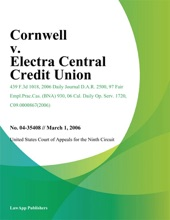 Cornwell V. Electra Central Credit Union