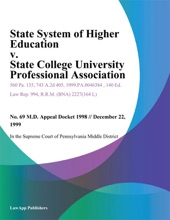 State System Of Higher Education V. State College University Professional Association