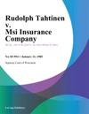Rudolph Tahtinen V Msi Insurance Company