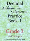 Decimal Addition And Subtraction Practice Book 1 Grade 3