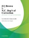 U Brown V NC Dept Of Correction