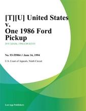[T][U] United States v. One 1986 Ford Pickup