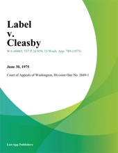 Label V. Cleasby