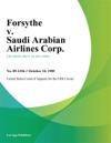 Forsythe V Saudi Arabian Airlines Corp