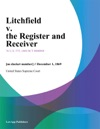 Litchfield V The Register And Receiver