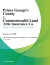 Prince Georges County V Commonwealth Land Title Insurance Co