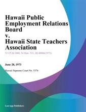Hawaii Public Employment Relations Board v. Hawaii State Teachers Association