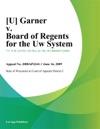 Garner V Board Of Regents For The Uw System