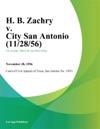 H B Zachry V City San Antonio