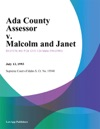 Ada County Assessor V Malcolm And Janet