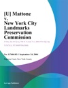 U Mattone V New York City Landmarks Preservation Commission