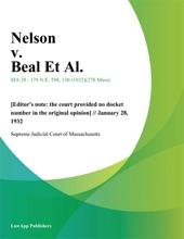 Nelson V. Beal Et Al.