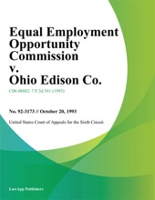 Equal Employment Opportunity Commission V. Ohio Edison Co.