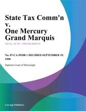 State Tax Comm'n v. One Mercury Grand Marquis