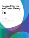 Leonard Harvey And Vesta Harvey V F-B