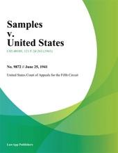 Samples V. United States.