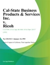 Cal-State Business Products  Services Inc V Ricoh